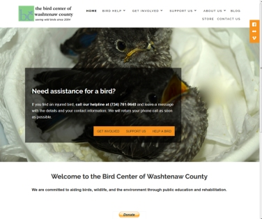 bird center front page